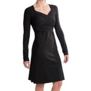 Prana tally black long sleeve dress NWT